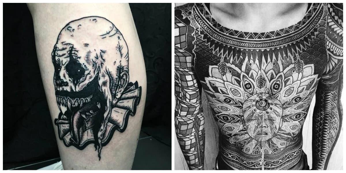 Tatuajes blackwork- puedes usar parte o todo el cuerpo