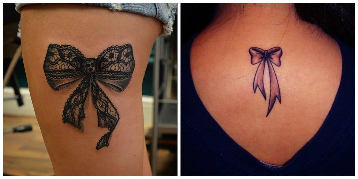 Tatuajes de arcos- lazos en tatuajes para las chicas modernas
