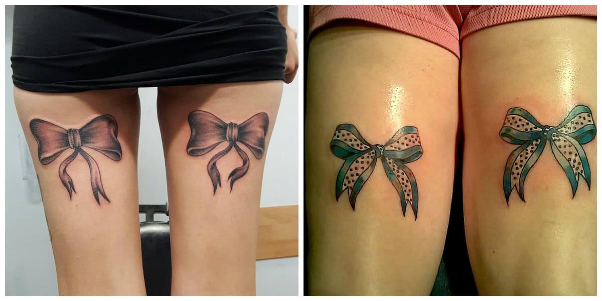 Tatuajes de arcos- se coloca en las dos piernas como un adorno