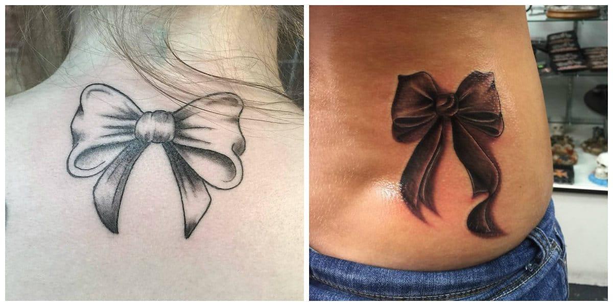 Tatuajes de arcos- en la parte superior de la espalda