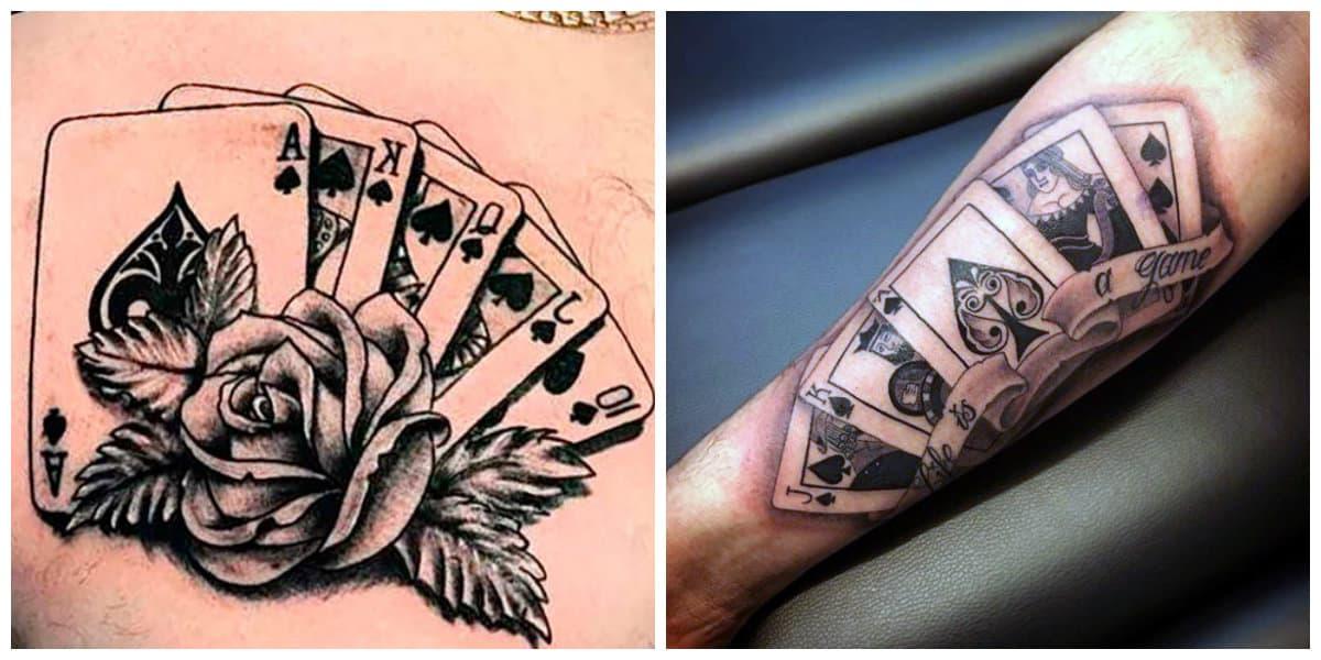 Tatuajes de cartas- todas las tendencias de stes tatuajes de juego