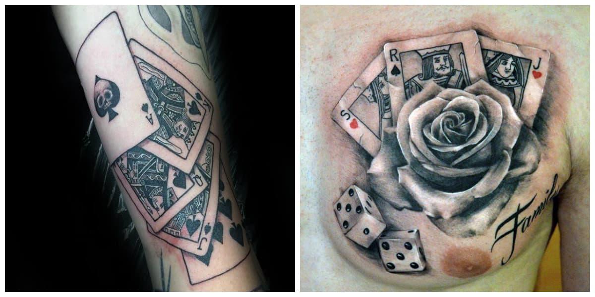 Tatuajes de cartas- combinacion es algunas carta en un lugar