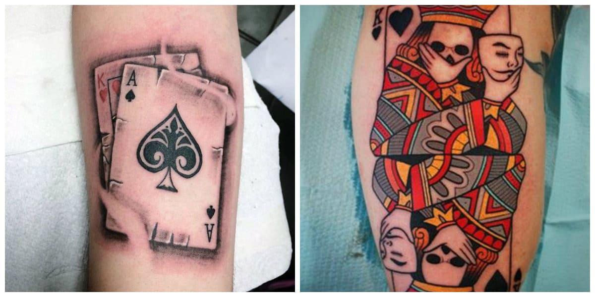 Tatuajes de cartas- cada palo de catra tiene su propio significado