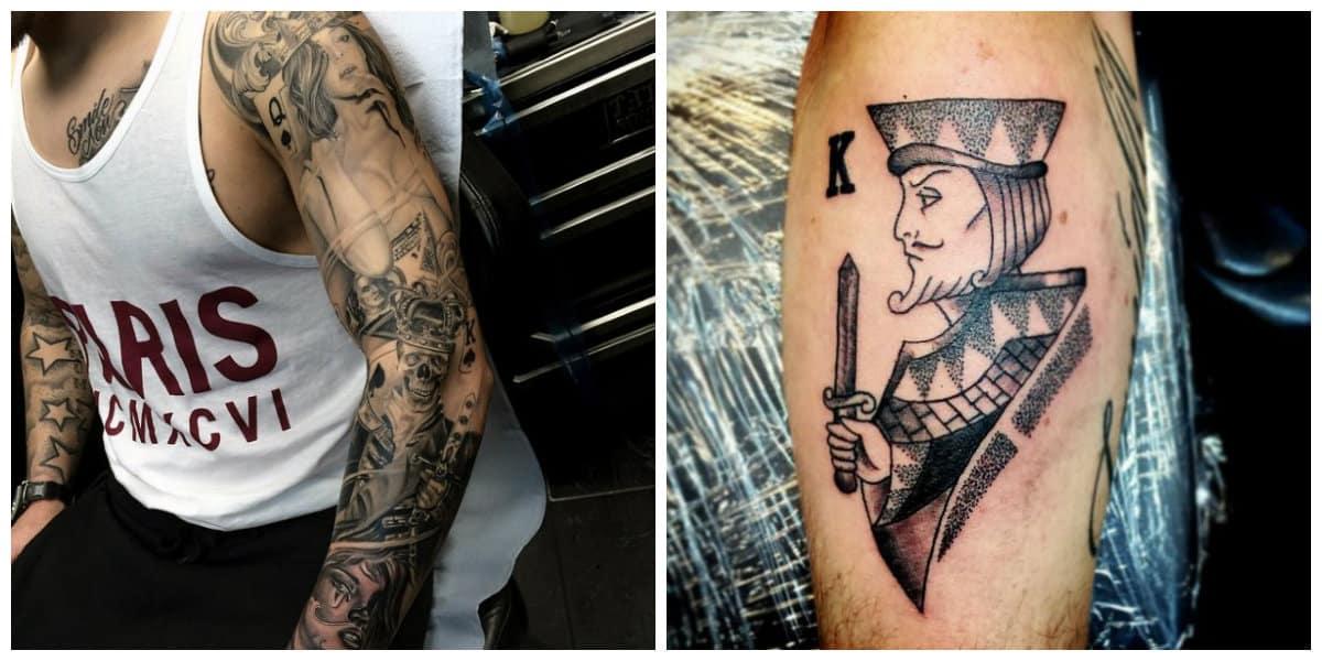 Tatuajes de cartas- es preferido generalmente por los hombres