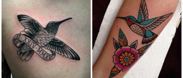 Tatuajes de colibri- no solo las mujeres sino tambien los hombres lo cavan