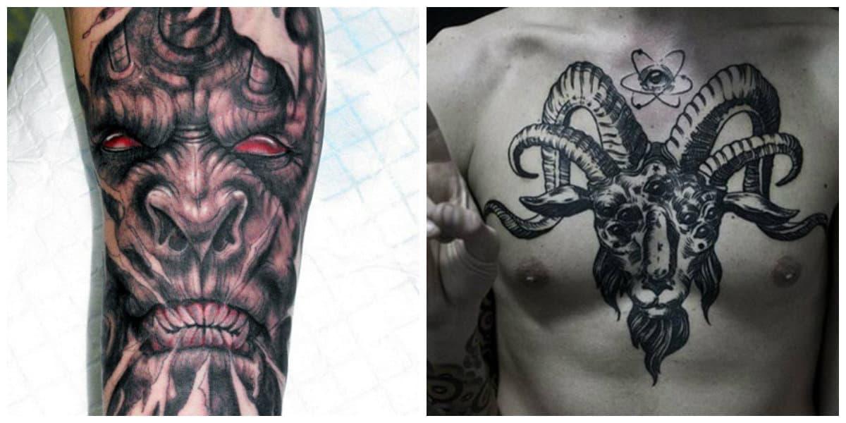Tatuajes de demonios- brazo y pecho como partes del cuerpo correspondientes