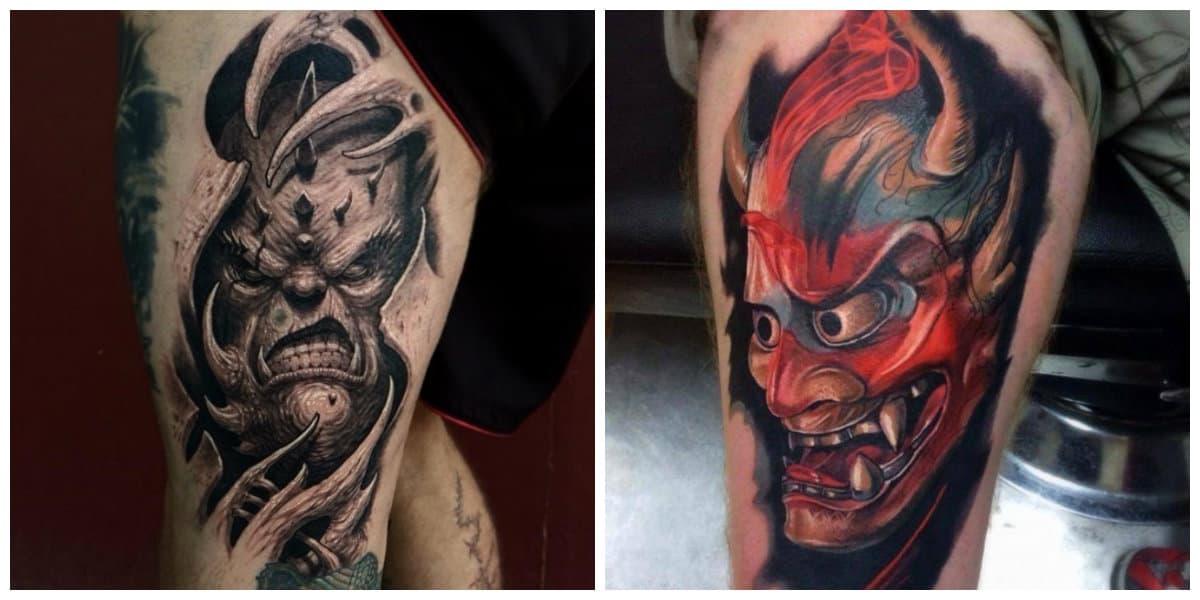 Tatuajes de demonios- coloracion de imagenes de demonios