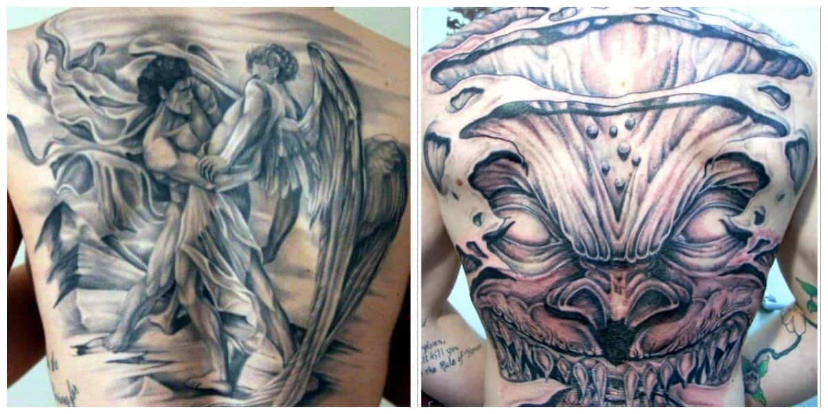 Tatuajes de demonios- tatuajes de tamanos grandes para hombres