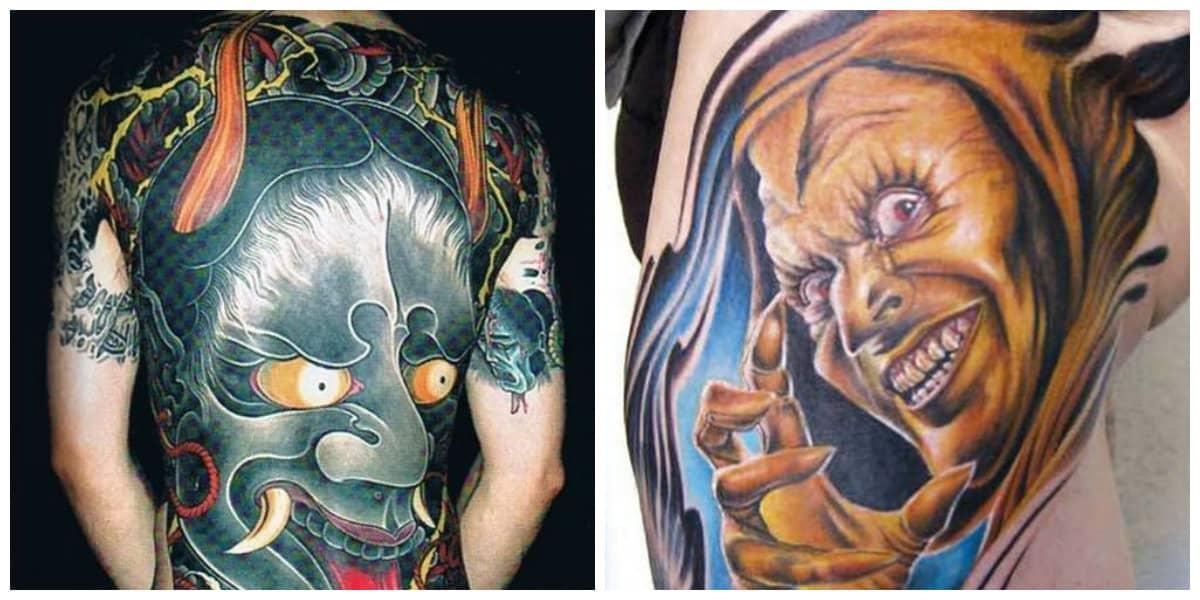 Tatuajes de demonios- colores diferentes para las imagenes de demonios