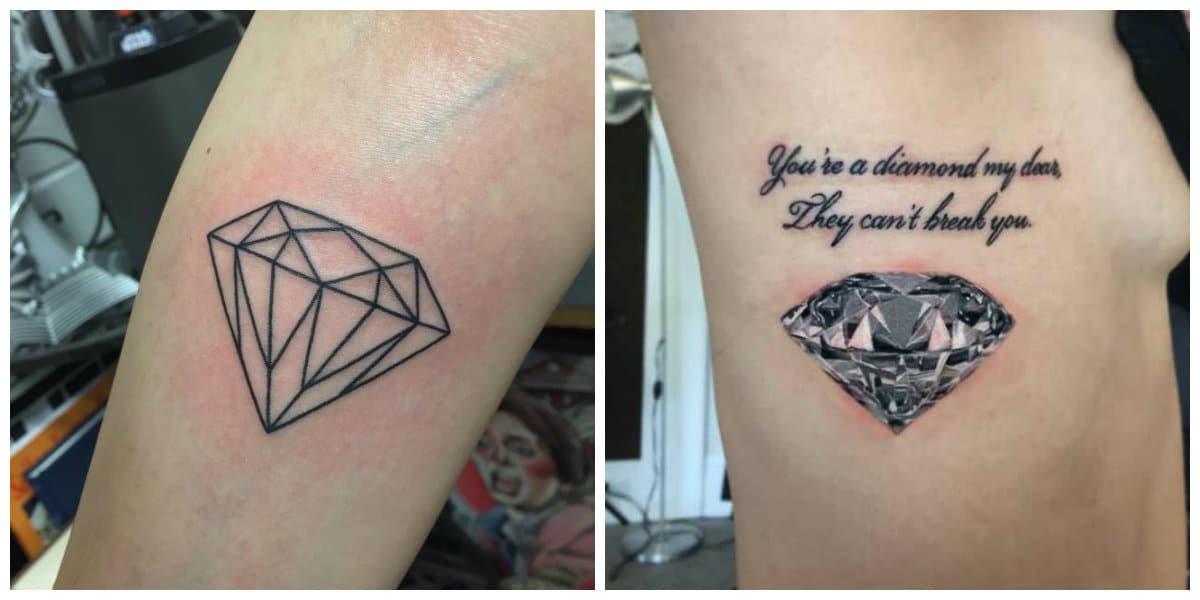 Tatuajes De Diamantes Los Mejores Tatuajes Elegantes De Diamantes