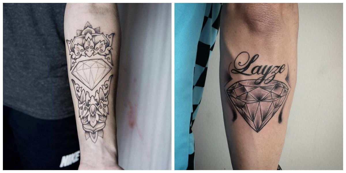 Tatuajes de diamantes- uno de preferidos signnos masculinos