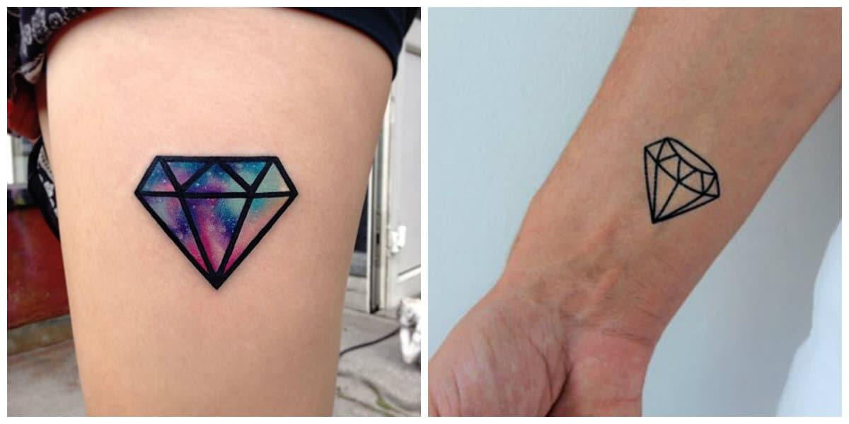 Tatuajes de diamantes- puede ser de diferentes colores de moda