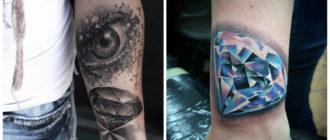 Tatuajes de diamantes- perfectas combinaciones de diamantes con otros simbolos