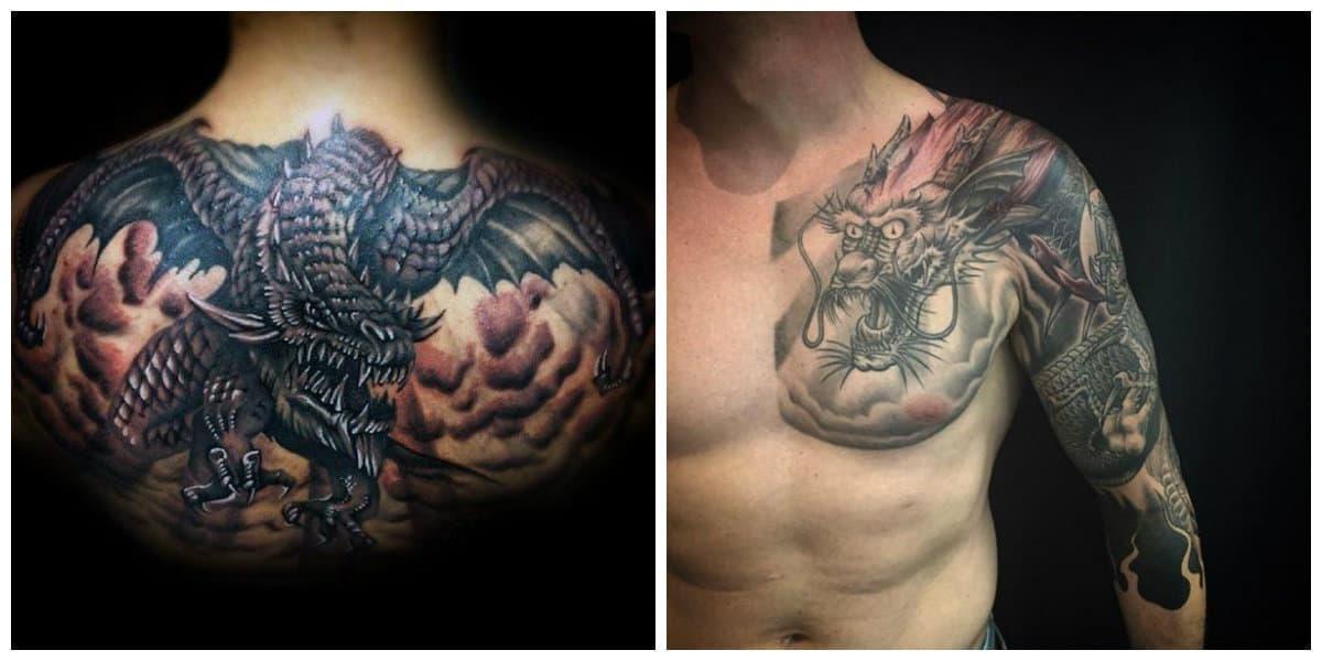 Tatuajes de dragones- todas las tendencias tradicionales y nuevas