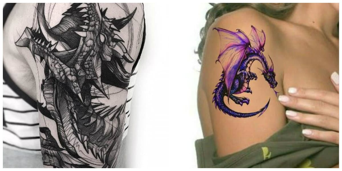 Tatuajes de dragones- se usa tanto por los hombres como las mujeres