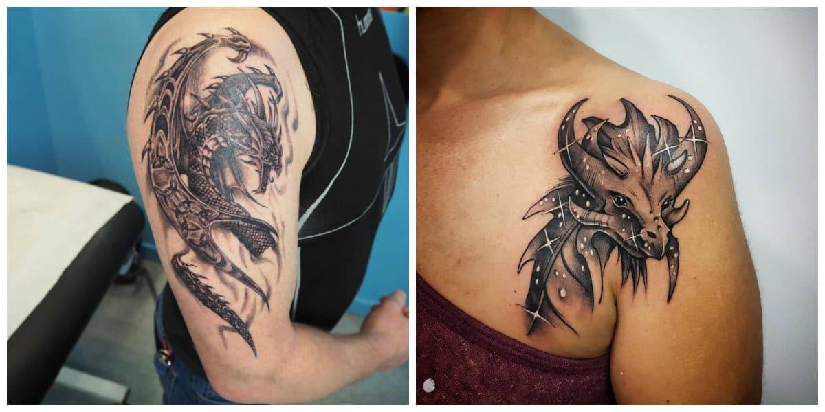Tatuajes de dragones- puede ser completo o solo la cabeza