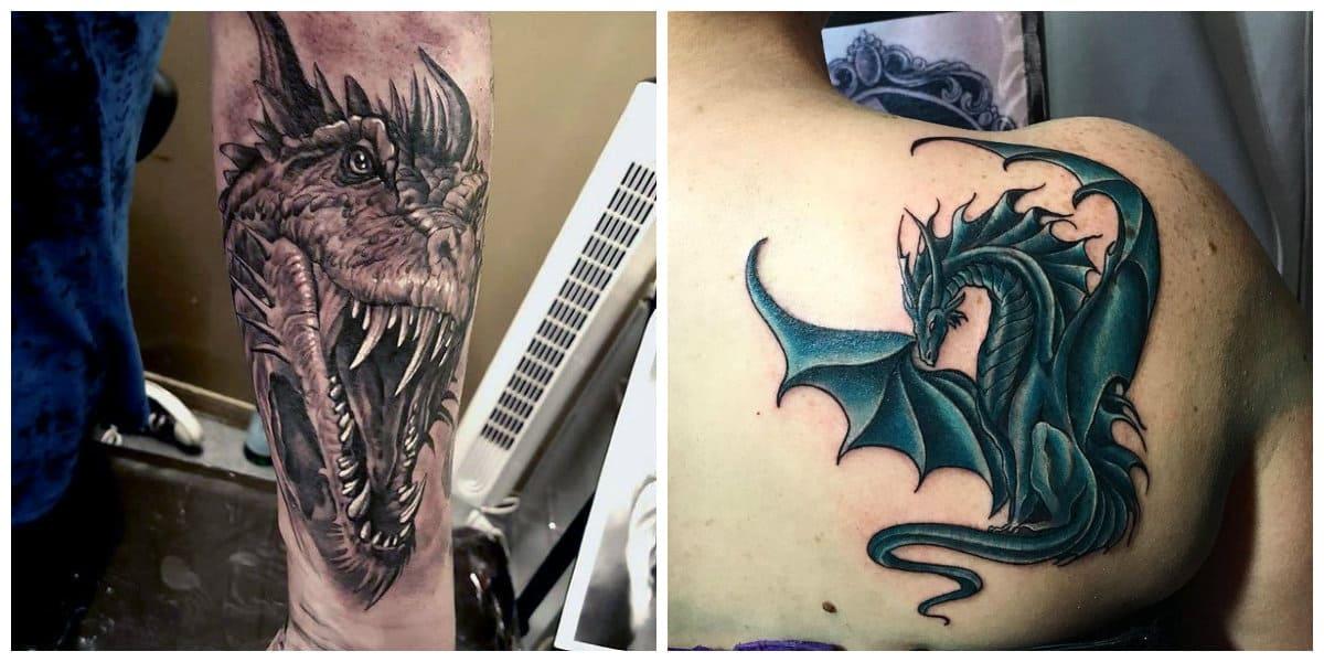 Tatuajes de dragones- algunas ideas innovadoras para tatuajes tradicionales