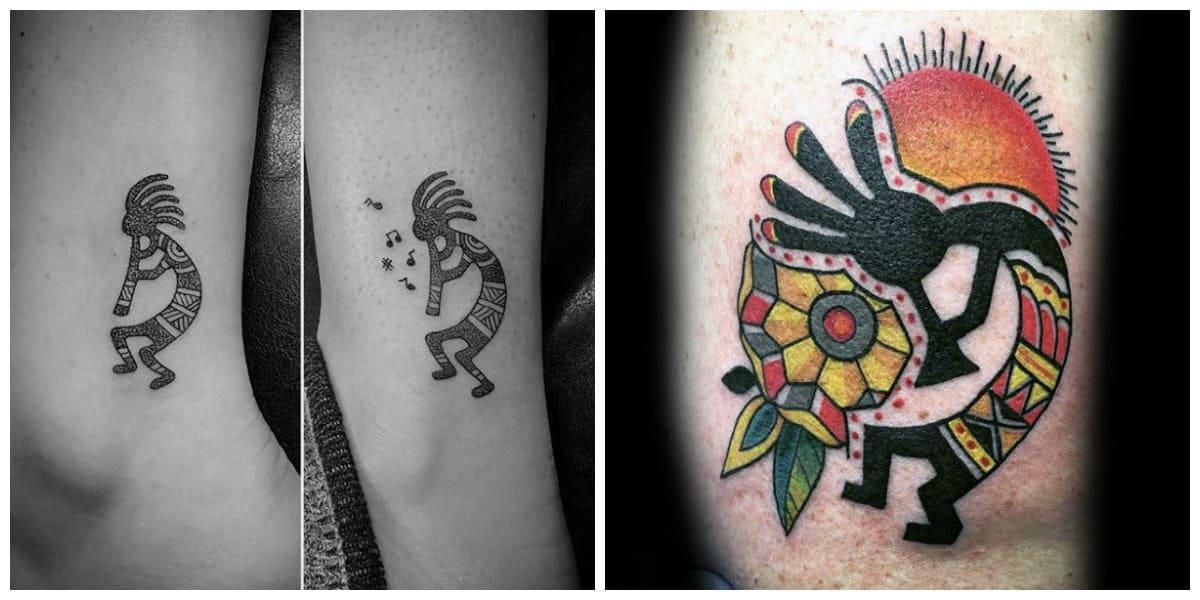 Tatuajes de kokopelli- un dios que encarna fertilidad