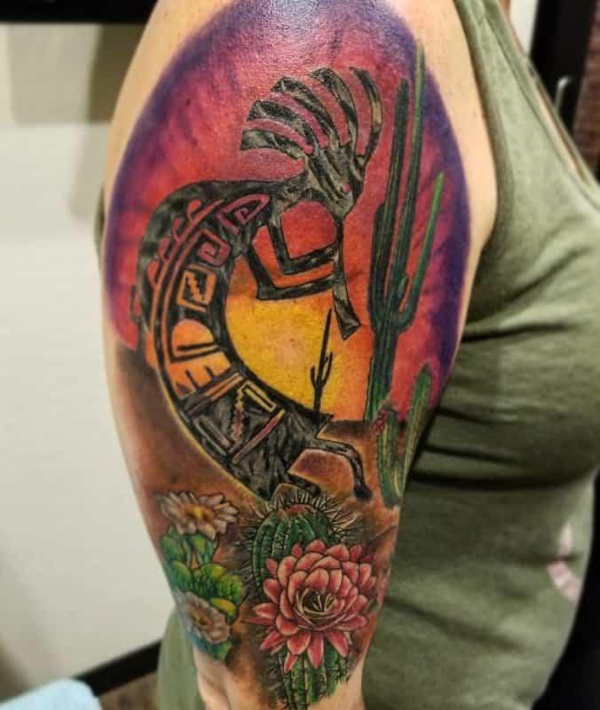 Tatuajes-de-kokopelli-Símbolo-del-tatuaje-nativo-americano-para-todos
