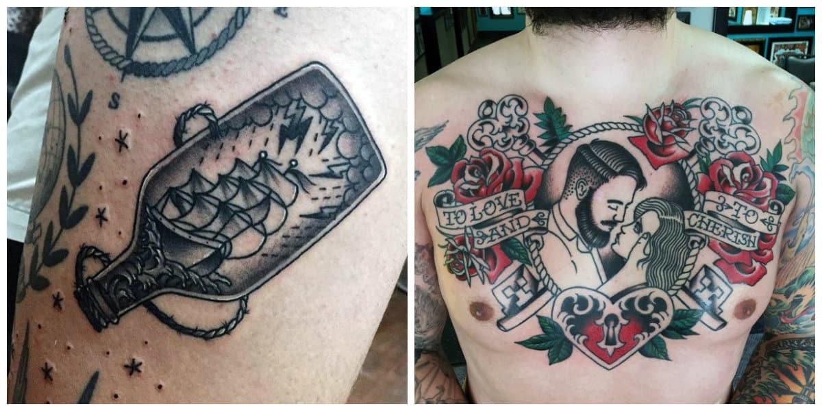 Tatuajes de la vieja escuela- todas las tendencias principales