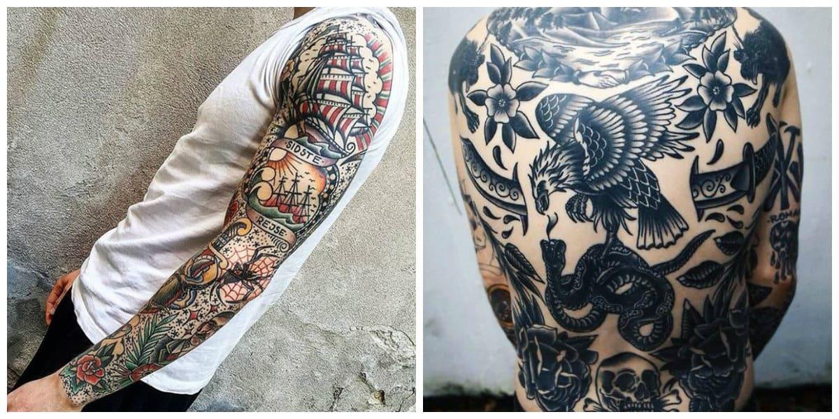 Tatuajes de la vieja escuela- mejores ideas para los hombres y mujeres