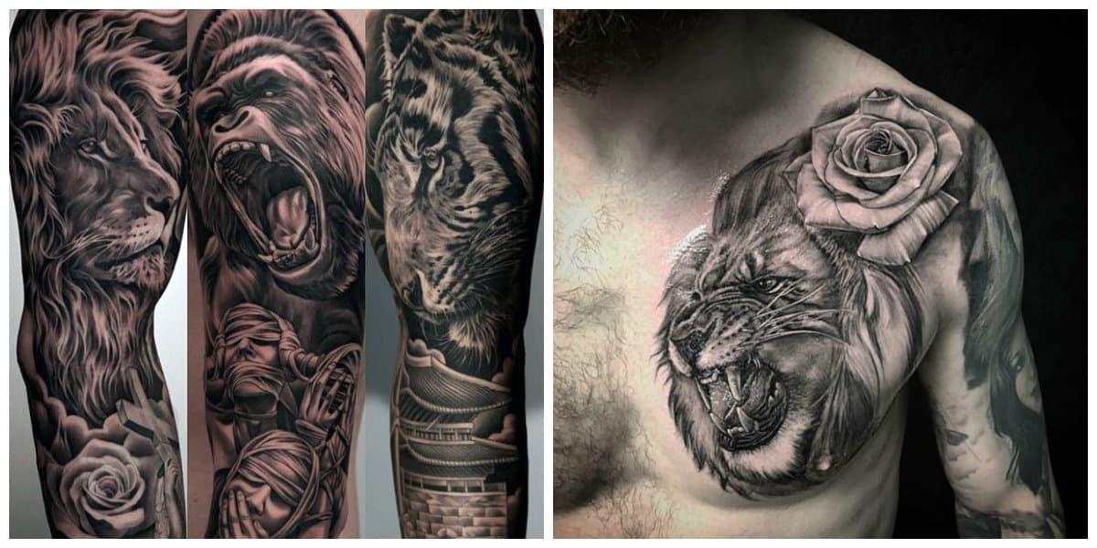 Tatuajes de leones- representadas todas las tendencias principales