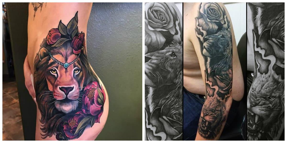 Tatuajes de leones- leon tiene un simbolismo del poder y de singularidad