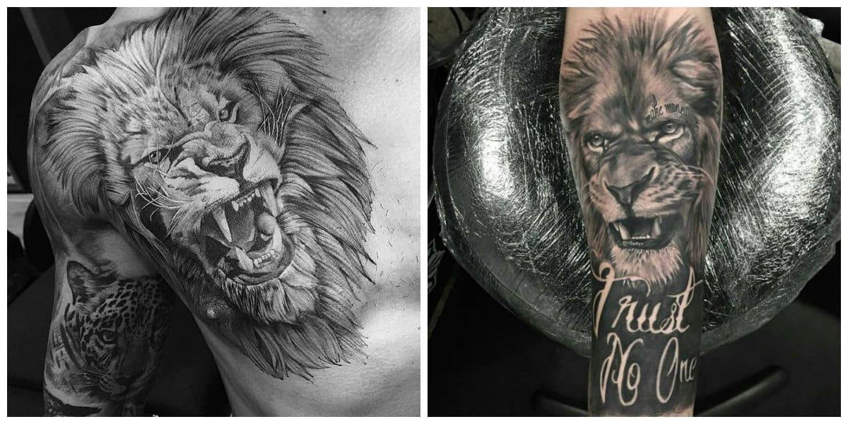 Tatuajes de leones- imagenes principales representadas en fotos