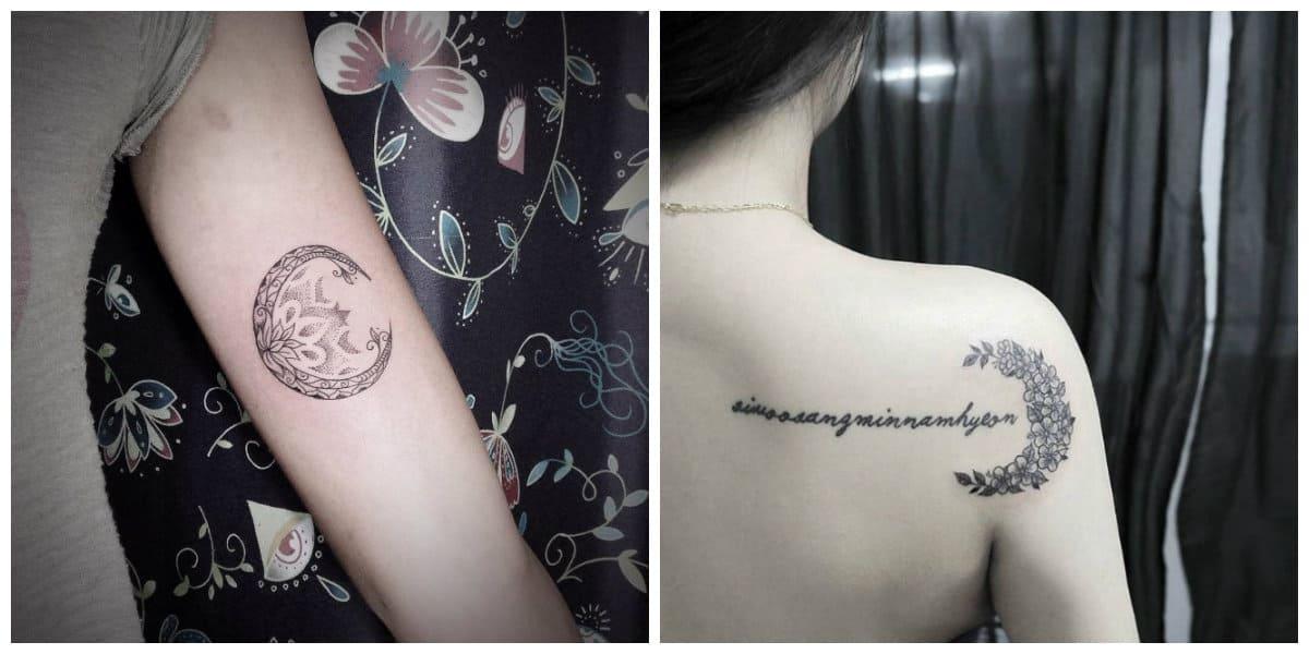 Tatuajes de lunas- imagenes de lunas con inscripicones de moda