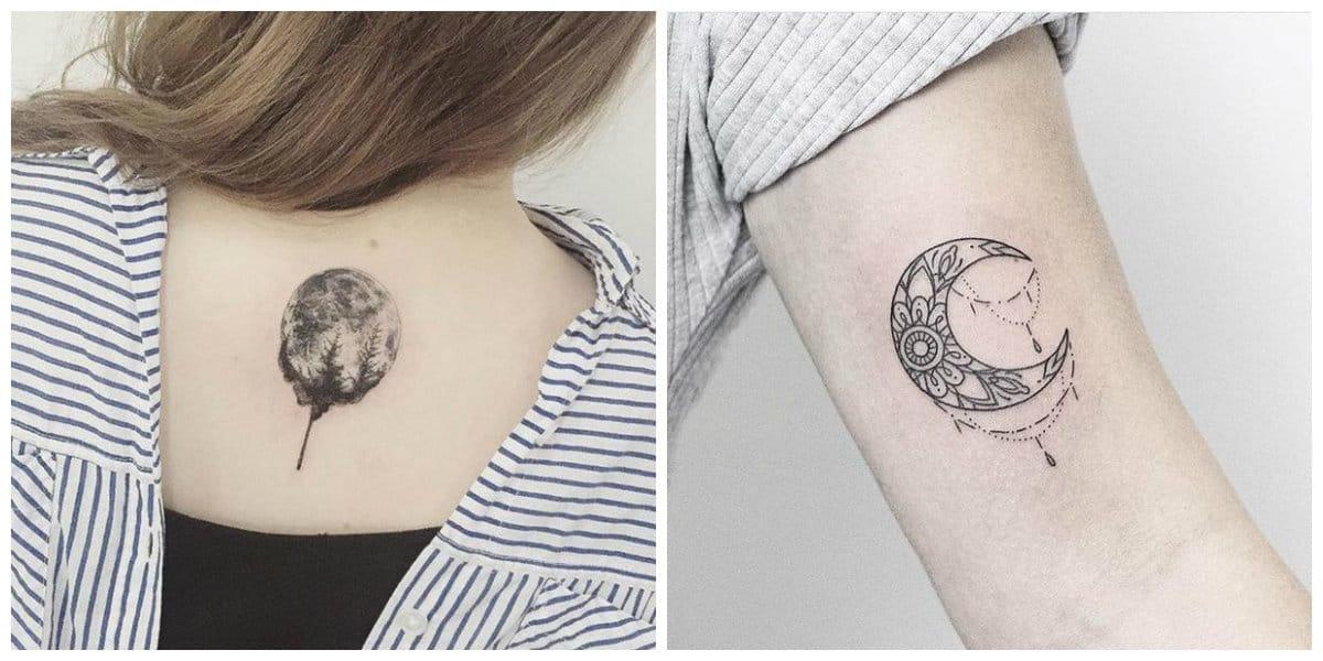 Tatuajes de lunas- la parte superieor de la espalda y brazo