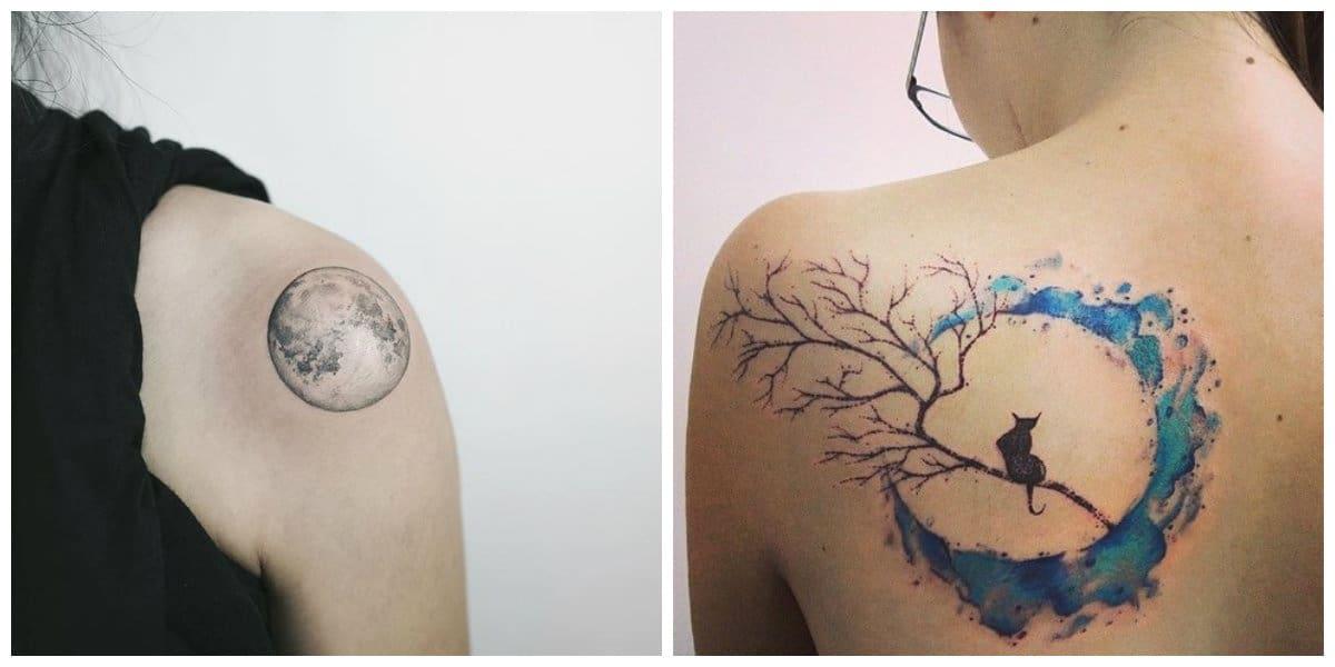 Tatuajes de lunas- imagenes que pueden acompanaar a los tatuajes de luna