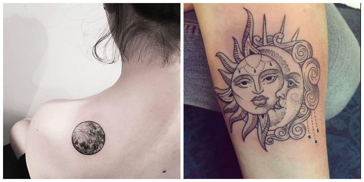 Tatuajes de lunas- luna y solo como simbolos no divisibles
