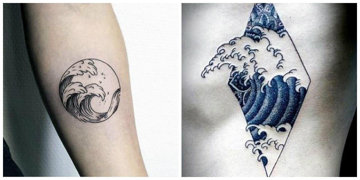 Tatuajes de olas- las tendencias principales para amantes del mar
