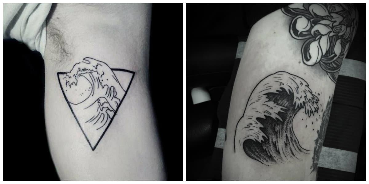 Tatuajes de olas- se hacen principalemente en negro