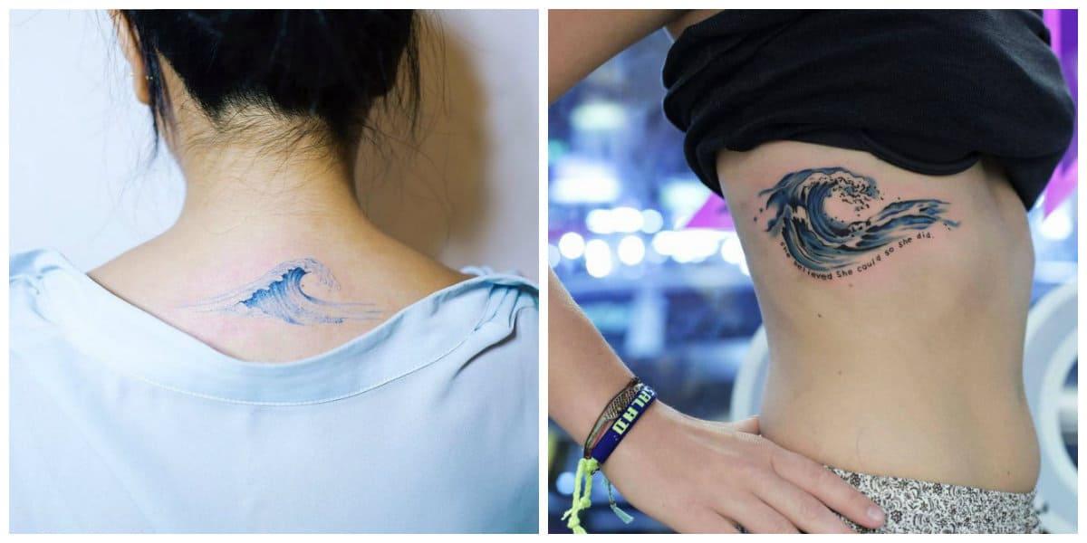Tatuajes de olas- las chicas quieren ser diferente mediante ondas