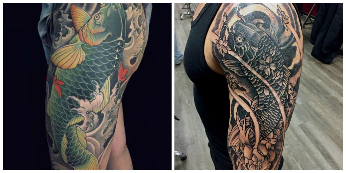 Tatuajes de pez koi- tradicionales tatuajes japoneses en la modernidad