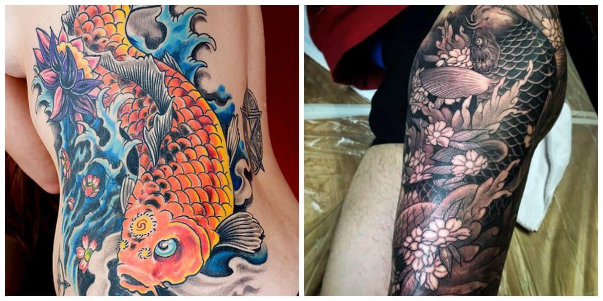 Tatuajes de pez koi- un simbolo de amor y vida, asi como poder