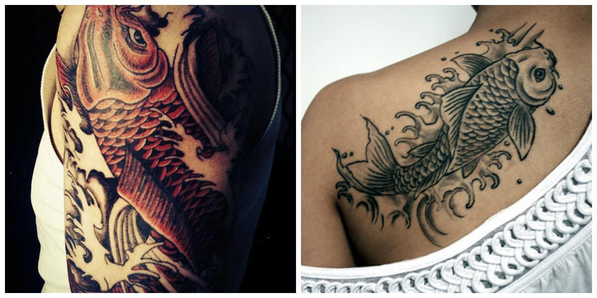 Tatuajes de pez koi- hay una variedad de disenos de moda