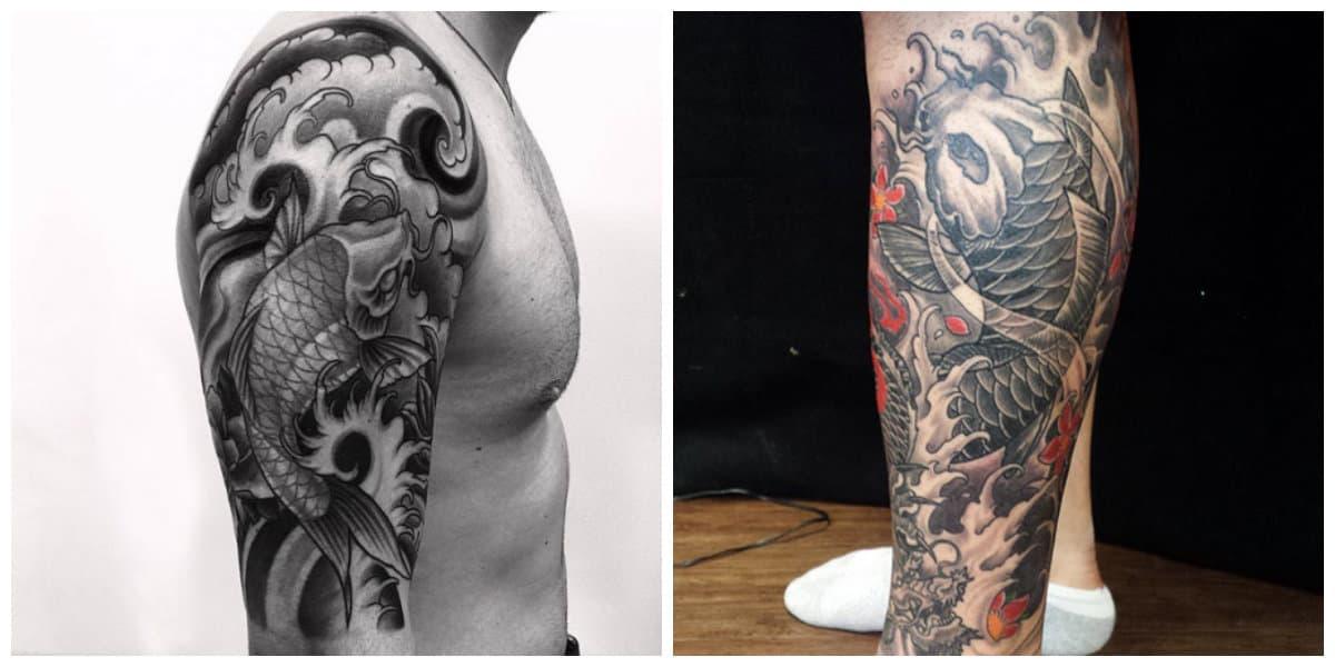 Tatuajes de pez koi- ideas creativas de este pez en tatuajes