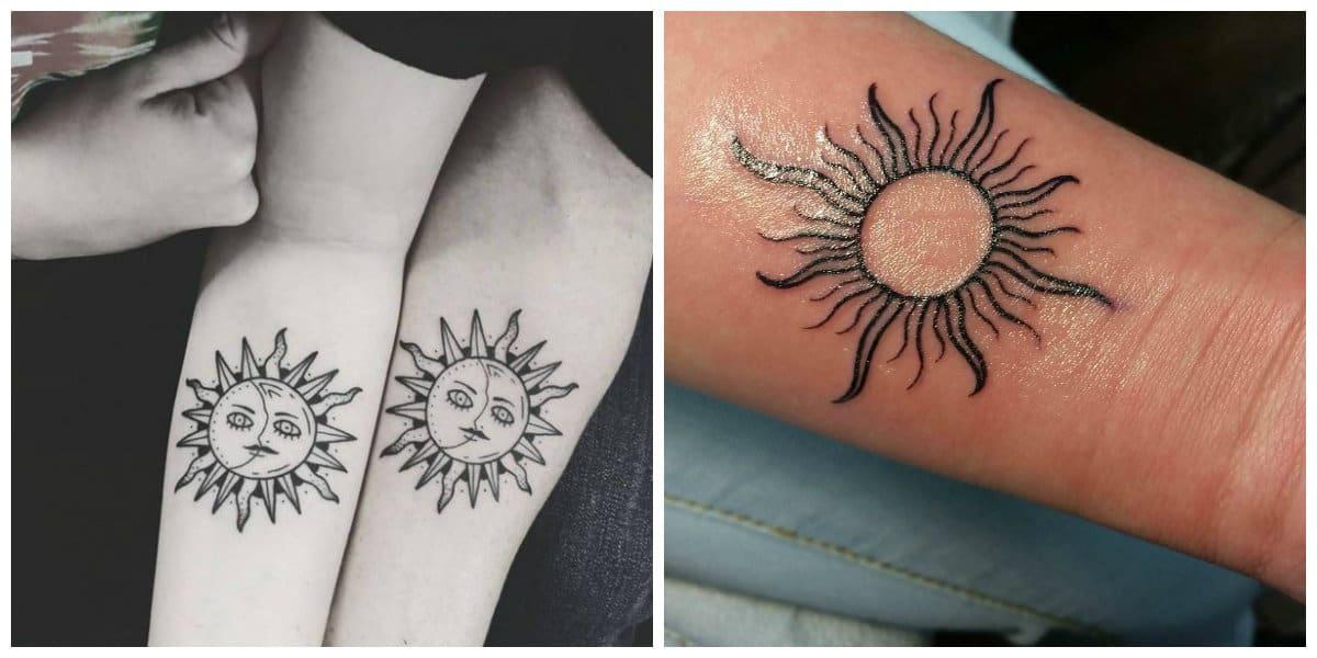 Tatuajes de sol- todas las tendencias modernas para todos
