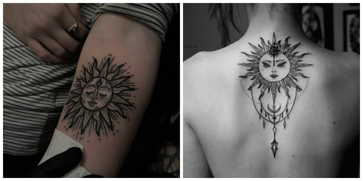 Tatuajes de sol- diferentes disenos y modelos de tatuajes solares