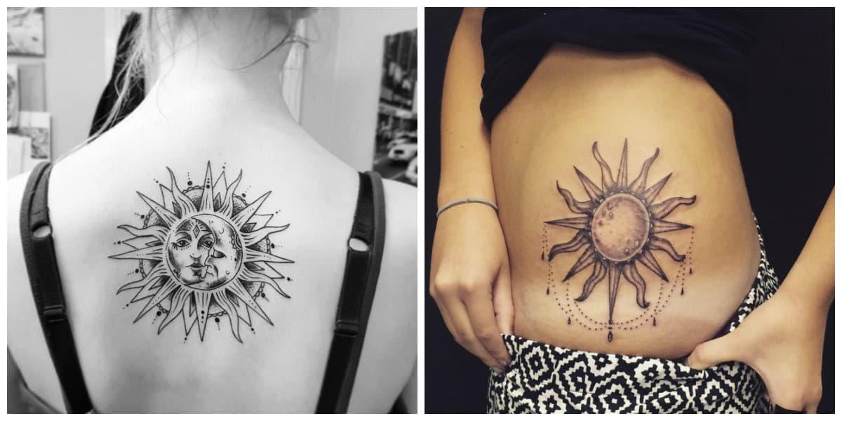Tatuajes de sol- es muy importantes elegir el lugar adecuado