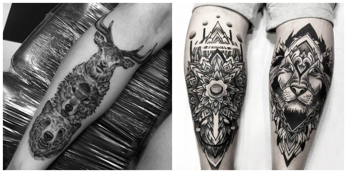 Tatuajes dotwork- ideas con imagenes de animales