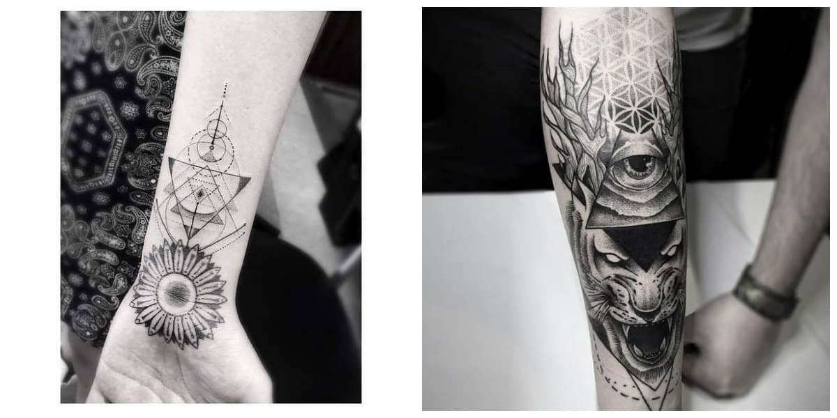 Tatuajes dotwork- ideas de tatuajes en tendencias modernas
