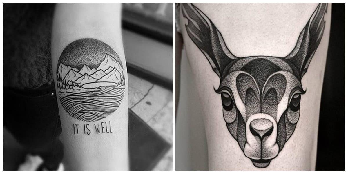 Tatuajes dotwork- algunas imagenes populares para ti