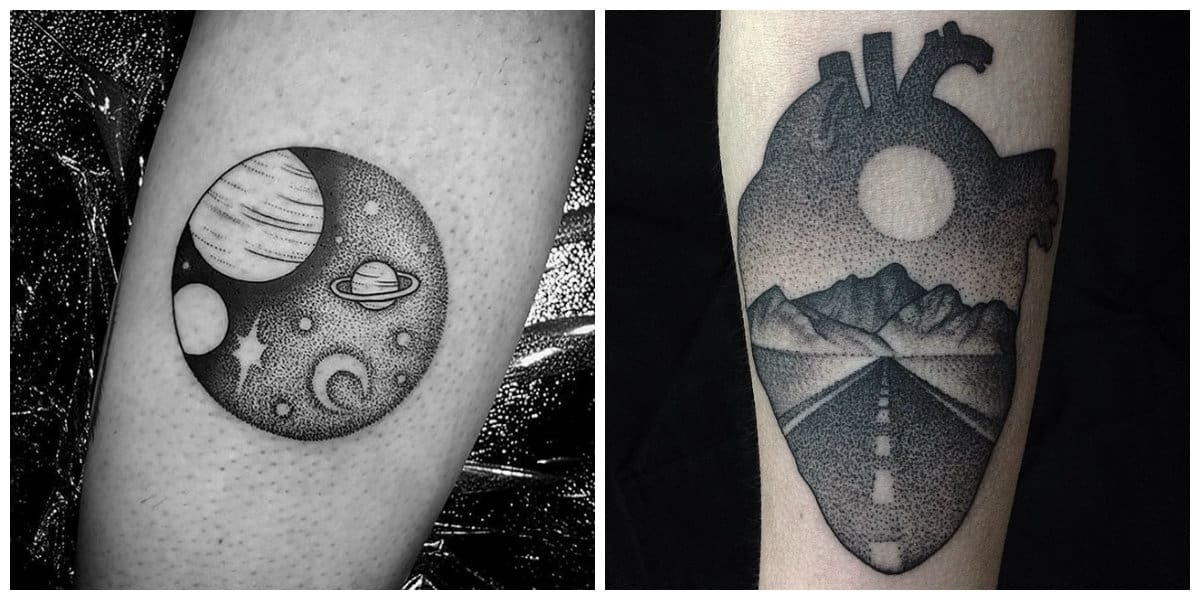 Tatuajes dotwork- corrientes e ideas interesantes modernas