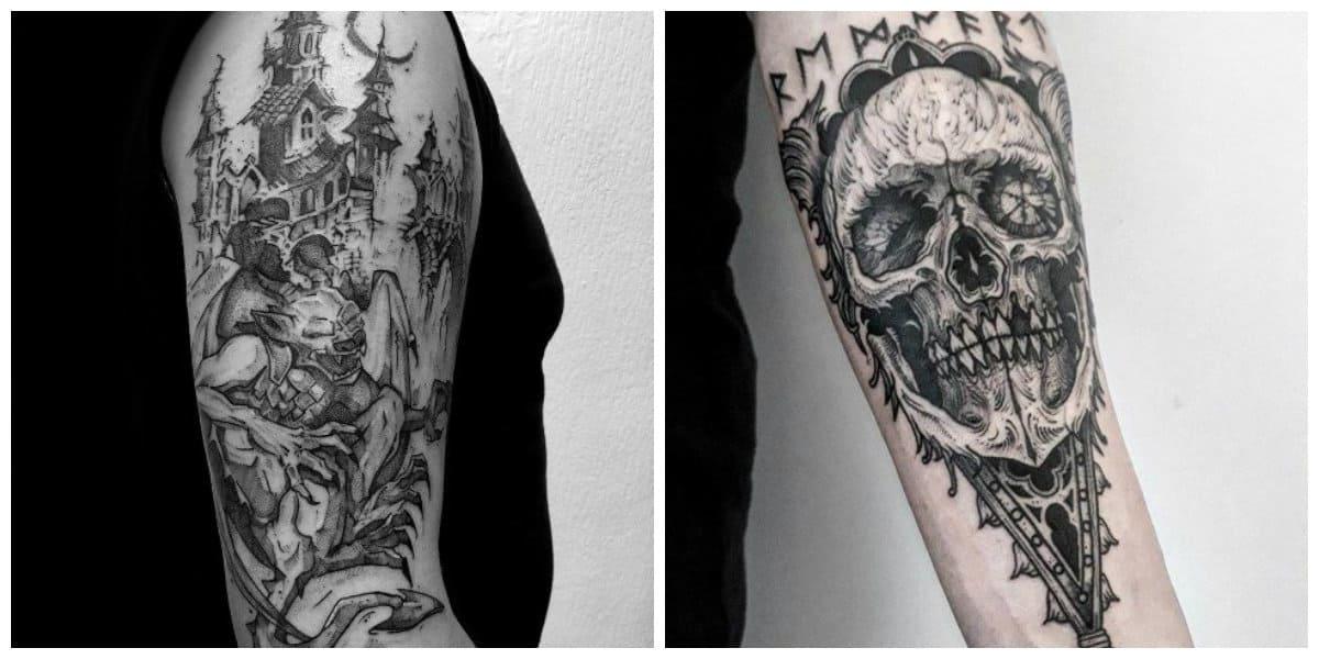 Tatuajes goticos- todas las tendencias tradicionales y modernas