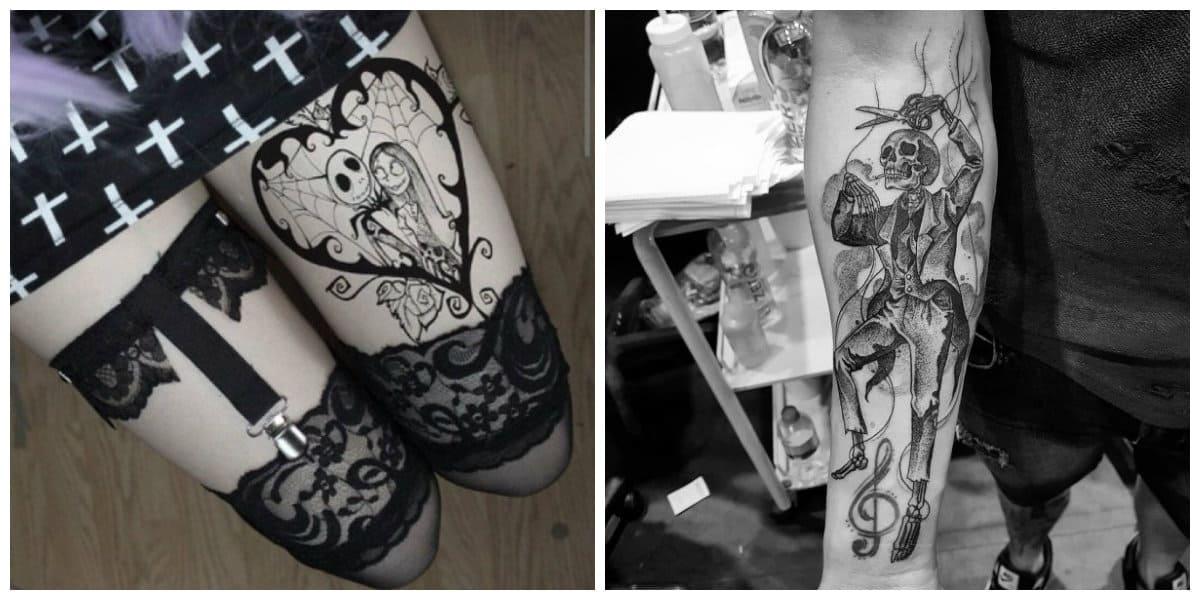 Tatuajes goticos- se ve perfecta con la ropa elegida correctamente
