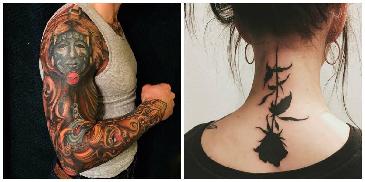 Tatuajes goticos- rosa en negro y vampiro son simbolos mucho usados