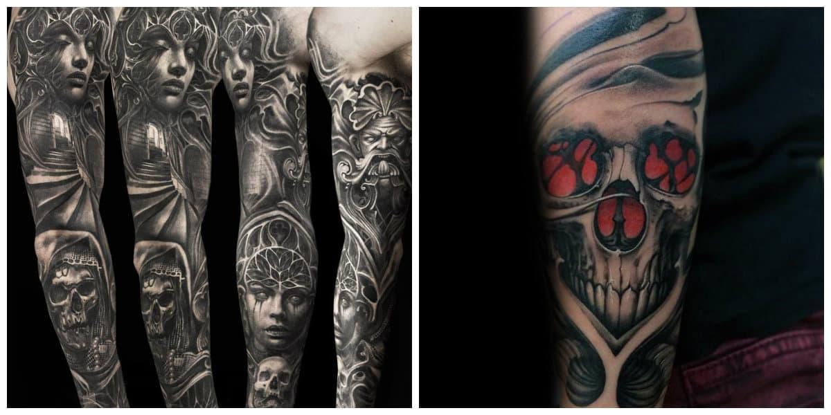 Tatuajes goticos- corrientes y representaciones muy a menudo usados